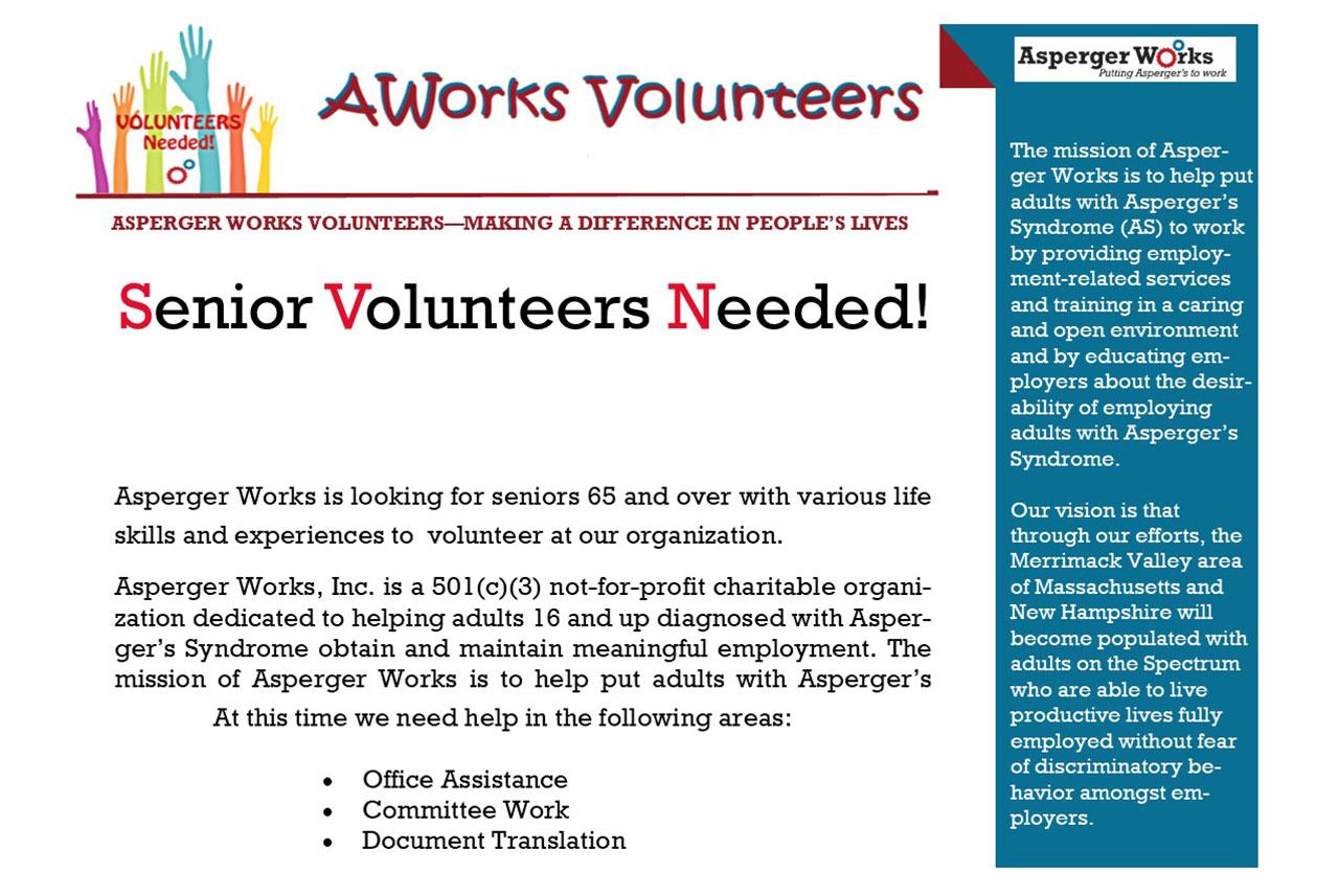 Senior Volunteers Needed
