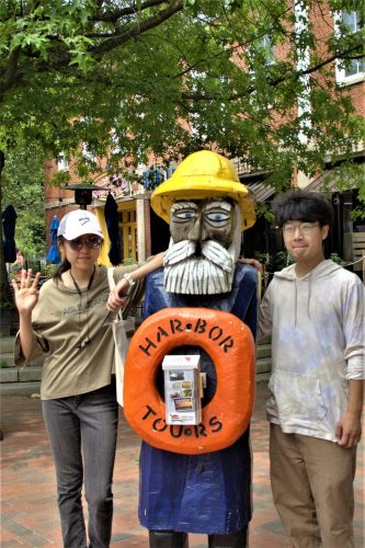 Shu Yu, Matthew, and Friend in Newburyport