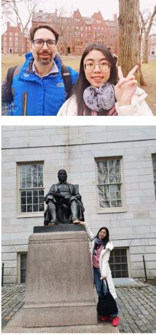 With Daniel at Harvard